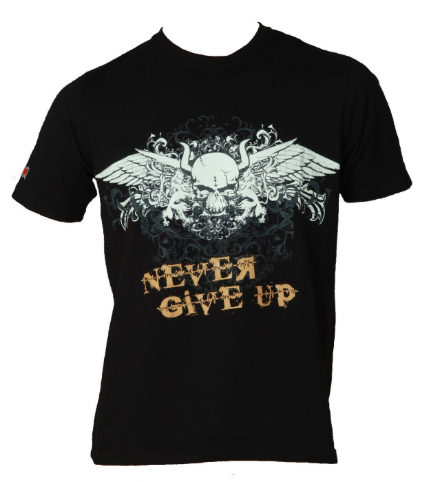 """Tricou """"Never give up"""" [0]"""