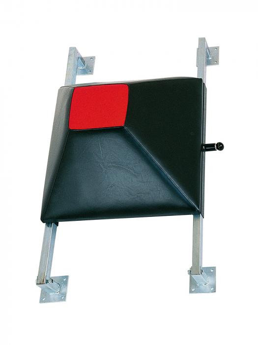 Wall kicking shield - black, height adjustable, 60 cm x 60 cm x 20 cm [0]