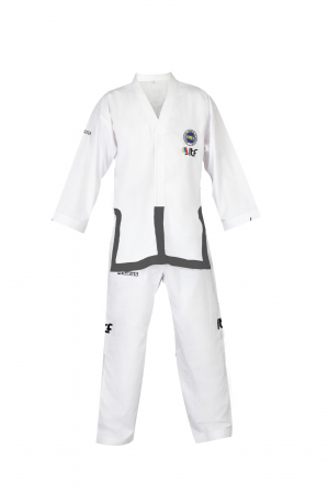 "Dobok ""Instructor"" pentru Taekwon-do aprobat ITF, Manus, alb [0]"