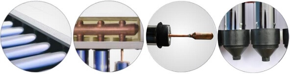 Componente sistem panou solar cu tuburi vidate
