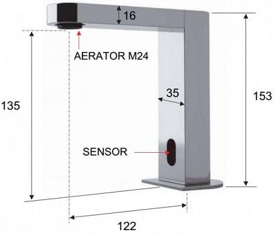 Dimensiuni baterie cu senzor Remer SE17