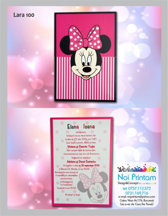 Invitatie botez Minnie 0
