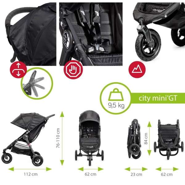 Carucior Baby Jogger City Mini GT 2 in 1 10