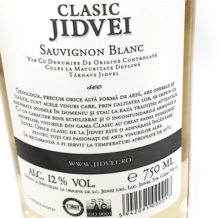 Vin Sec - Clasic Jidvei Sauvignon Blanc - 1