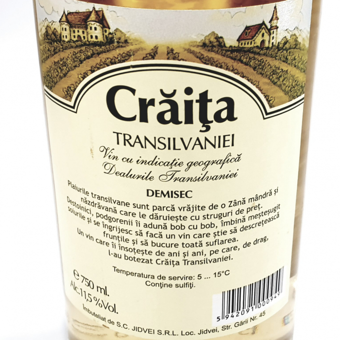Vin alb demisec - Crăița Transilvaniei - 1