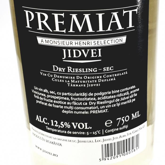 Vin alb sec - Jidvei Premiat Dry Riesling - 1