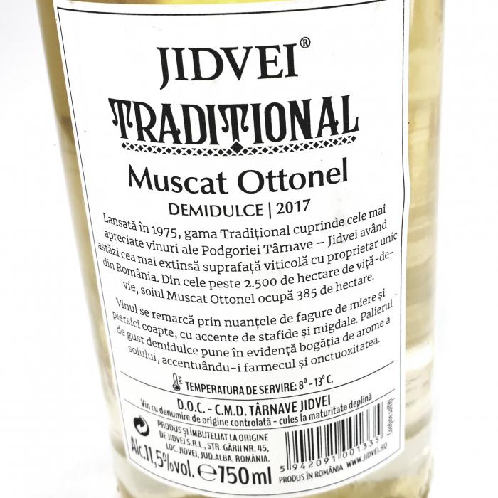 Vin Alb Jidvei Tradițional - Muscat Ottonel - Demidulce 1