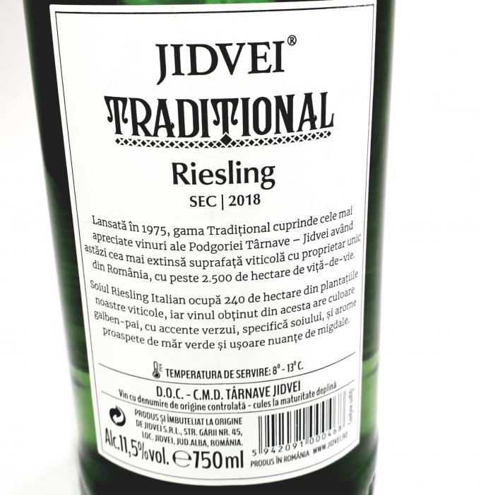 Vin Alb - Jidvei Tradițional Riesling - sec 1