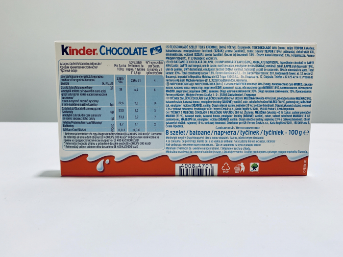 Kinder Chocolate 1
