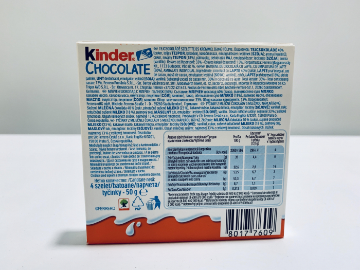 Kinder chocolate 1