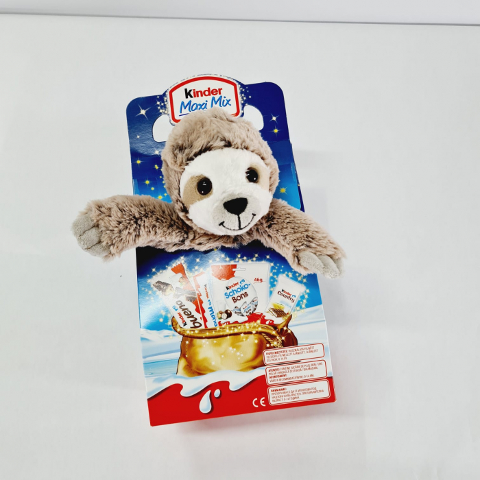 Kinder Maxi Mix de Crăciun cu jucărie Leneș de pluș 0