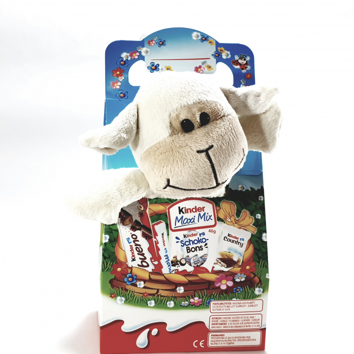 Kinder Maxi Mix cu jucărie de pluș (oiță albă) 0