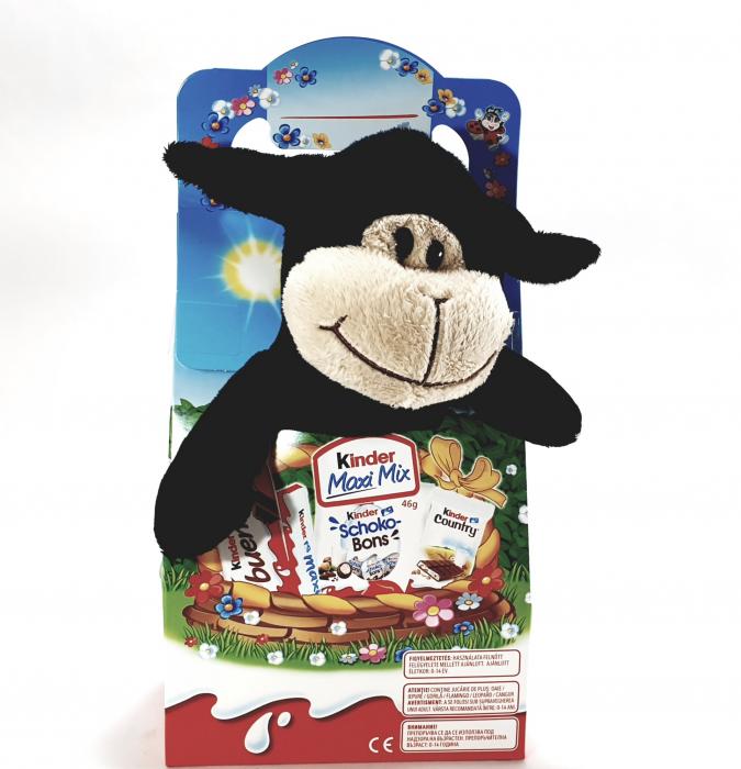 Kinder Maxi Mix cu jucărie de pluș (oiță neagră) 0