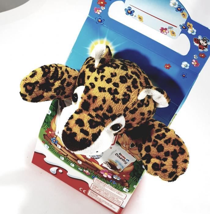 Kinder Maxi Mix cu jucărie de pluș (tigru) 0