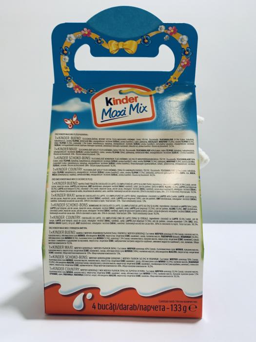 Kinder Maxi Mix cu jucărie de pluș (oiță neagră) 1