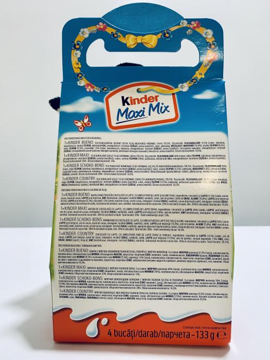 Kinder Maxi Mix cu jucărie de pluș (oiță albă) 1