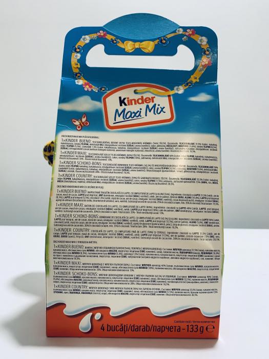 Kinder Maxi Mix cu jucărie de pluș (tigru) 2