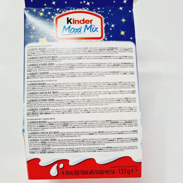 Kinder Maxi Mix de Crăciun cu jucărie Leneș de pluș 1