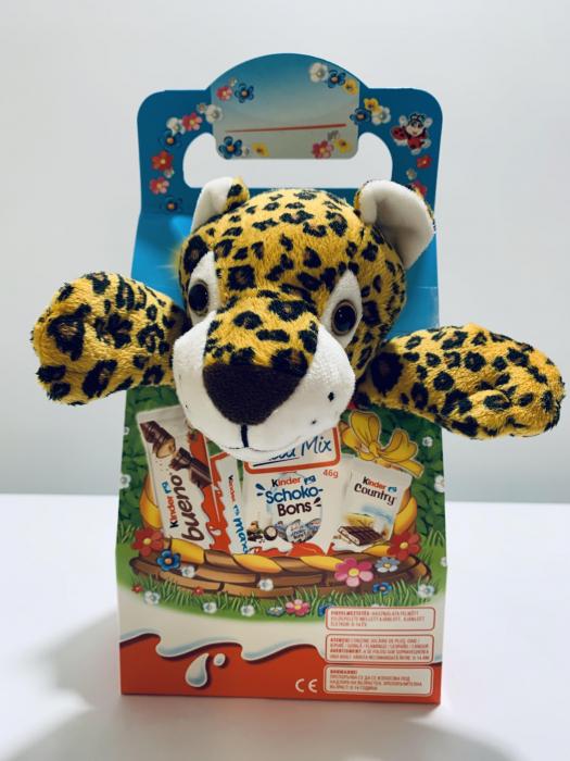 Kinder Maxi Mix cu jucărie de pluș (tigru) 1