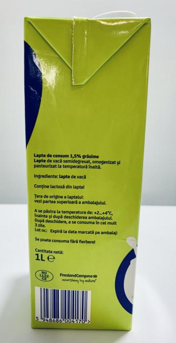 Lapte Okè 1,5 % grăsime 1