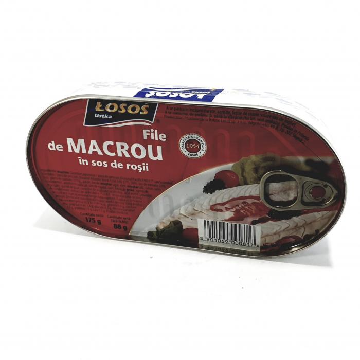 Losos File de Macrou în sos de roșii   G [0]