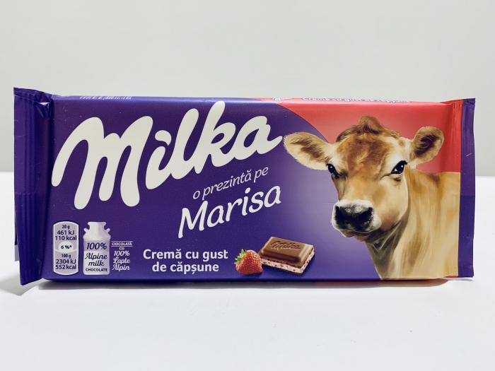 Milka cu cremă cu gust de căpșune 0