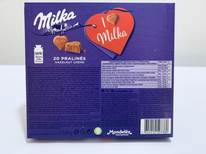 Ciocolată I love Milka pralinés 1