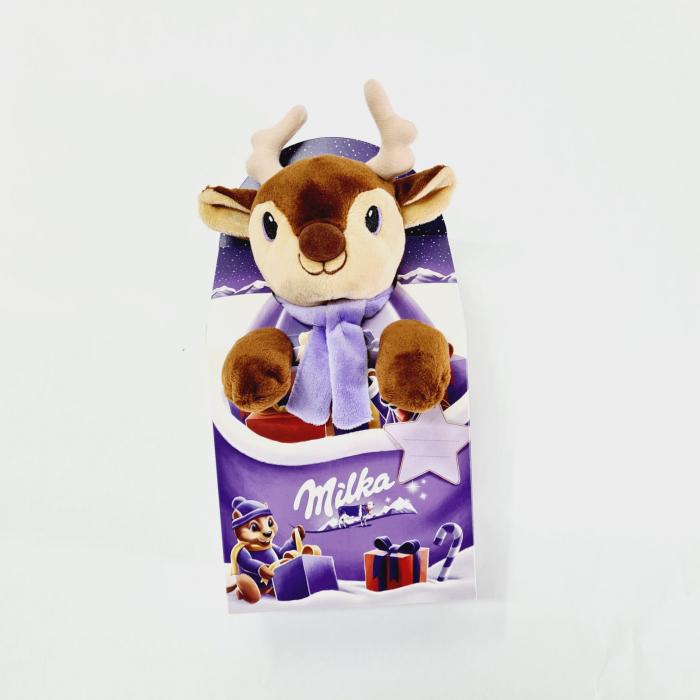 Mix de ciocolată cu lapte alpin Milka cu jucărie de pluș Renul lui Moș Crăciun [0]