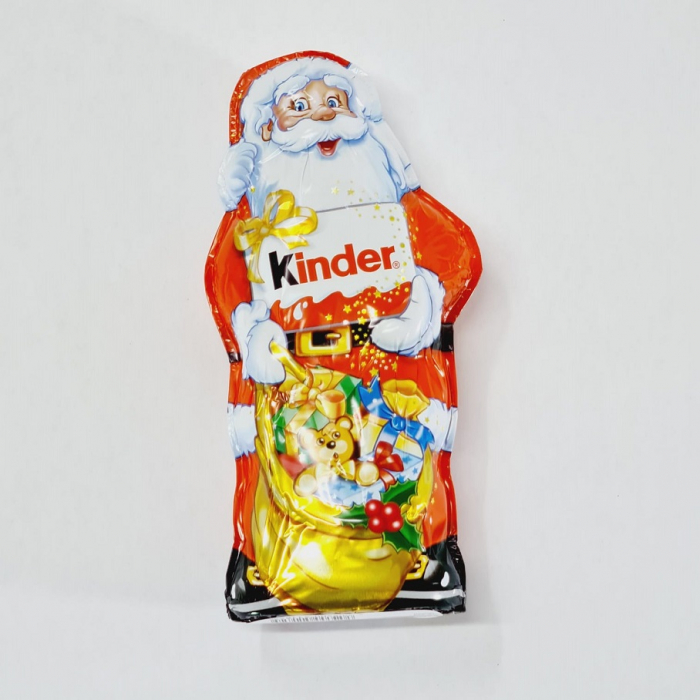 Moș Crăciun de Ciocolată Kinder cu lapte 0