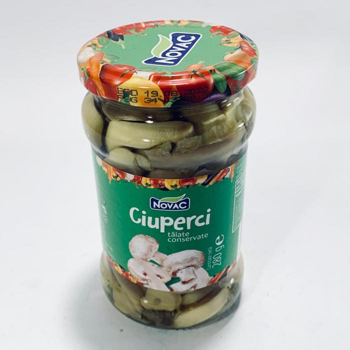 Ciuperci tăiate și conservate - Novac - 0