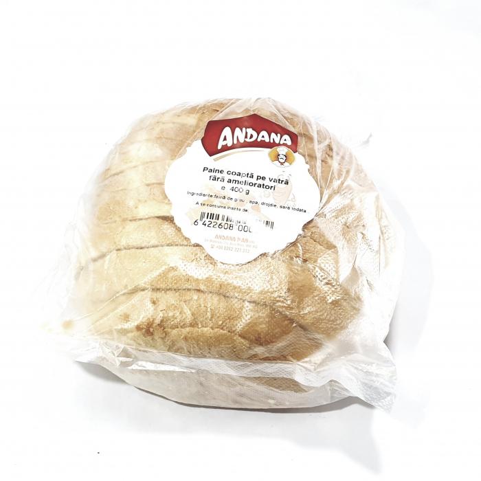 Pâine coaptă pe vatră fără ameliatori 0