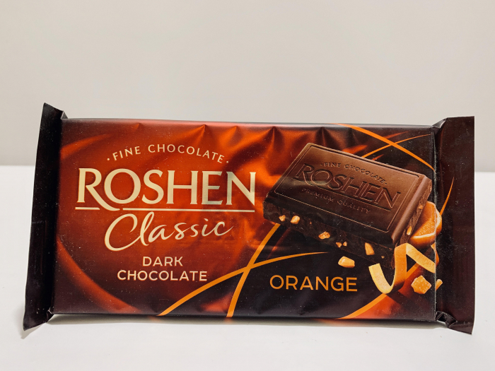 Roshen Classic Dark Chocolate Orange 0