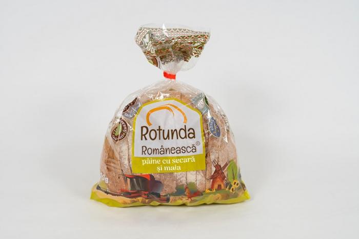 Rotundă Românească pâine cu secară și maia 3