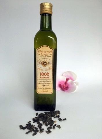 Ulei presat la rece - floarea soarelui -- 0.5 l 2