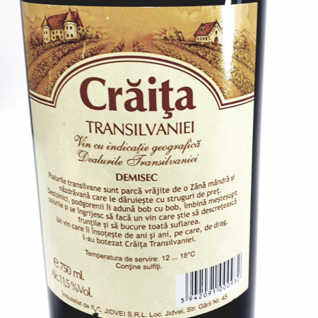 Vin roșu demisec - Crăița Transilvaniei - [1]