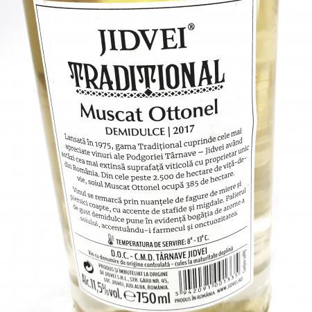 Vin Alb Jidvei Tradițional - Muscat Ottonel - Demidulce1