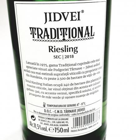 Vin Alb - Jidvei Tradițional Riesling - sec1