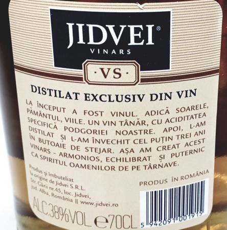 Jidvei - VINARS JIDVEI VSOP -2