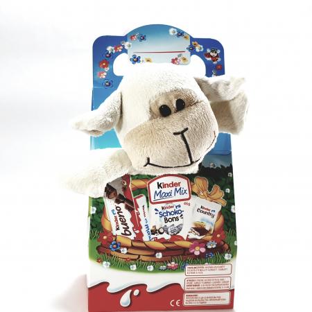 Kinder Maxi Mix cu jucărie de pluș (oiță albă)0