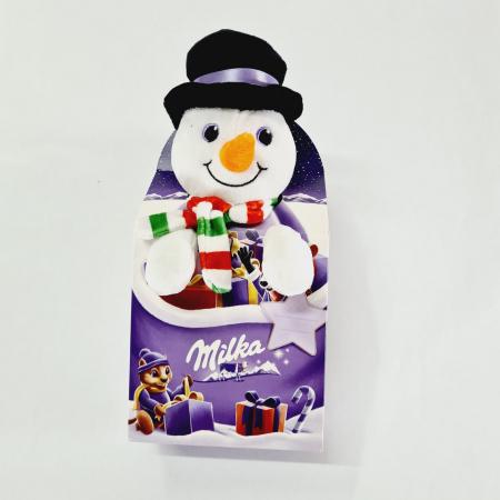 Milka cu jucărie Mix de ciocolată cu lapte alpin Milka Crăciun Om de Zapadă de pluș [0]