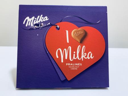 Ciocolată I love Milka pralinés0