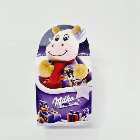 Văcuță pluș Milka - Mix ciocolată Crăciun cu lapte alpin [0]