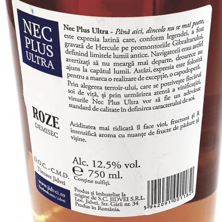 Jidvei - Nec Plus Ultra Rose - demisec1