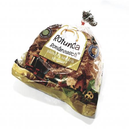 Rotundă Românească pâine cu secară și maia0