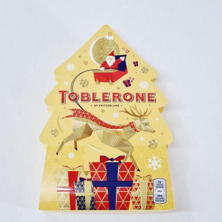 Toblerone Cadou Bradut de Crăciun - Mix de Ciocolată cu lapte elvețiană0