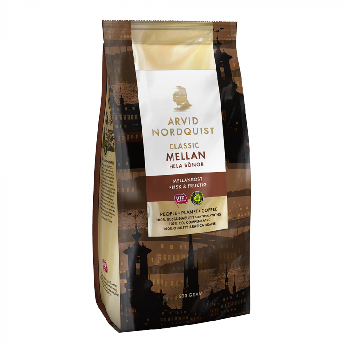 Arvid Nordquist Mellan cafea boabe 500g 0