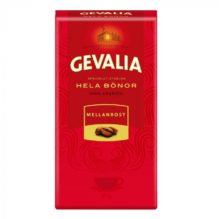 Gevalia Mellanrost cafea boabe 500g 0