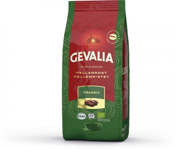 Gevalia Organic (Ekologisk) cafea boabe 450g 0