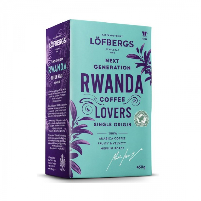 Lofbergs Rwanda cafea macinata 450g 0