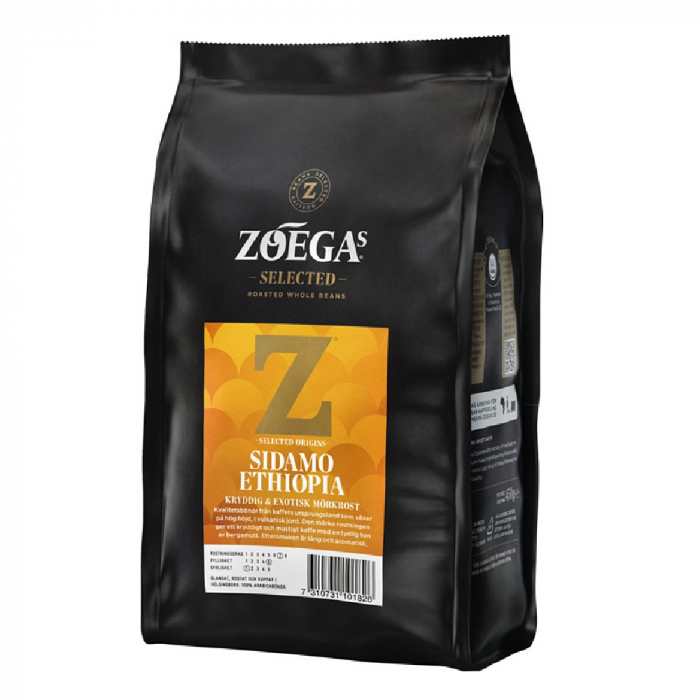 Zoegas Sidamo Ethiopia cafea boabe 450g 0